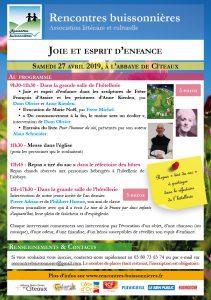 Rencontres buissonnières - 27 avril 2019 - Abbaye de Cîteaux