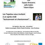 Programme - Talant - Rencontres buissonnières - 1er février 2020